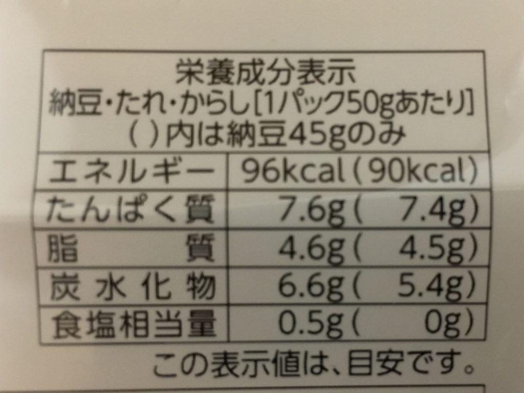 納豆カロリー